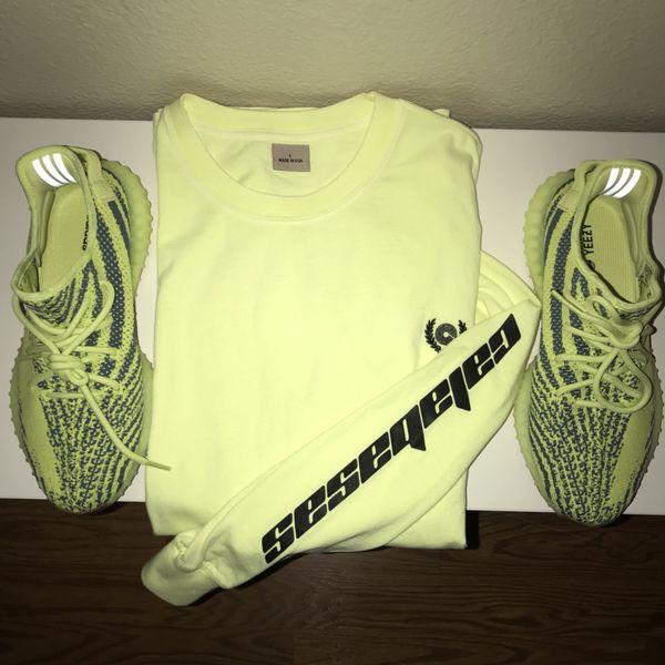 9b6b82d55da Yeezy Calabasas Long Sleeve Semi Frozen Yellow Size L Authentic for ...