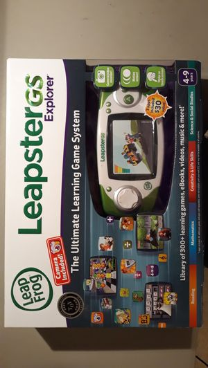 LeapFrog Leapster GS Explorer Green Ultimate Learning Game System 9700 for Sale in Great Falls, VA