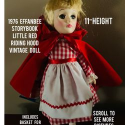 1976, Effanbee Storybook, Little Red Riding Hood Doll Thumbnail