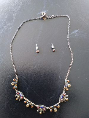 Bronx/Multi~Color Diamond Chain with Stud EarRings for Sale in Kissimmee, FL