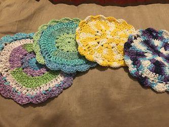 Handmade floral trivets Thumbnail
