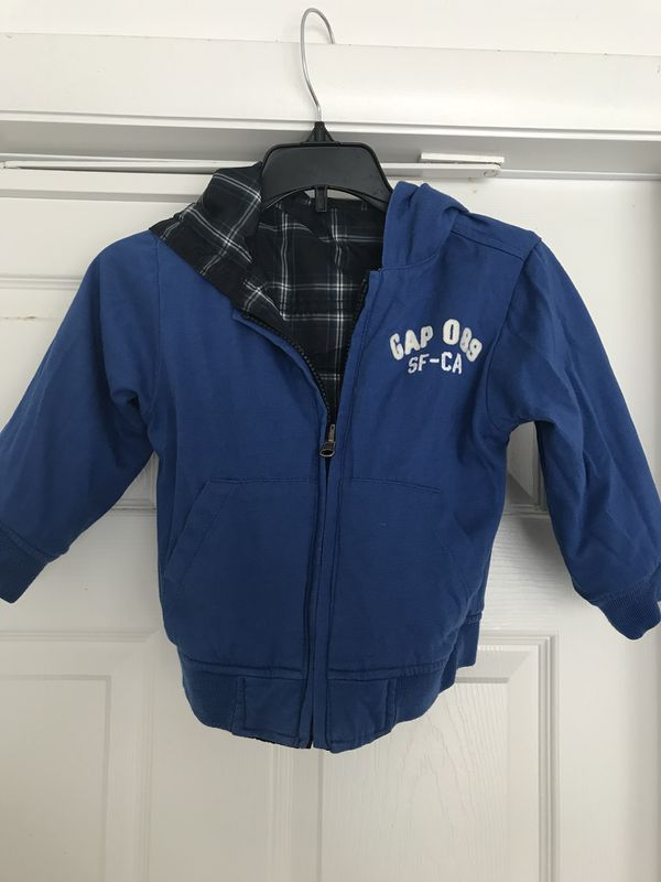 a4b2f0be7 Gap toddler reversible blue and plaid boys winter jacket for Sale in ...