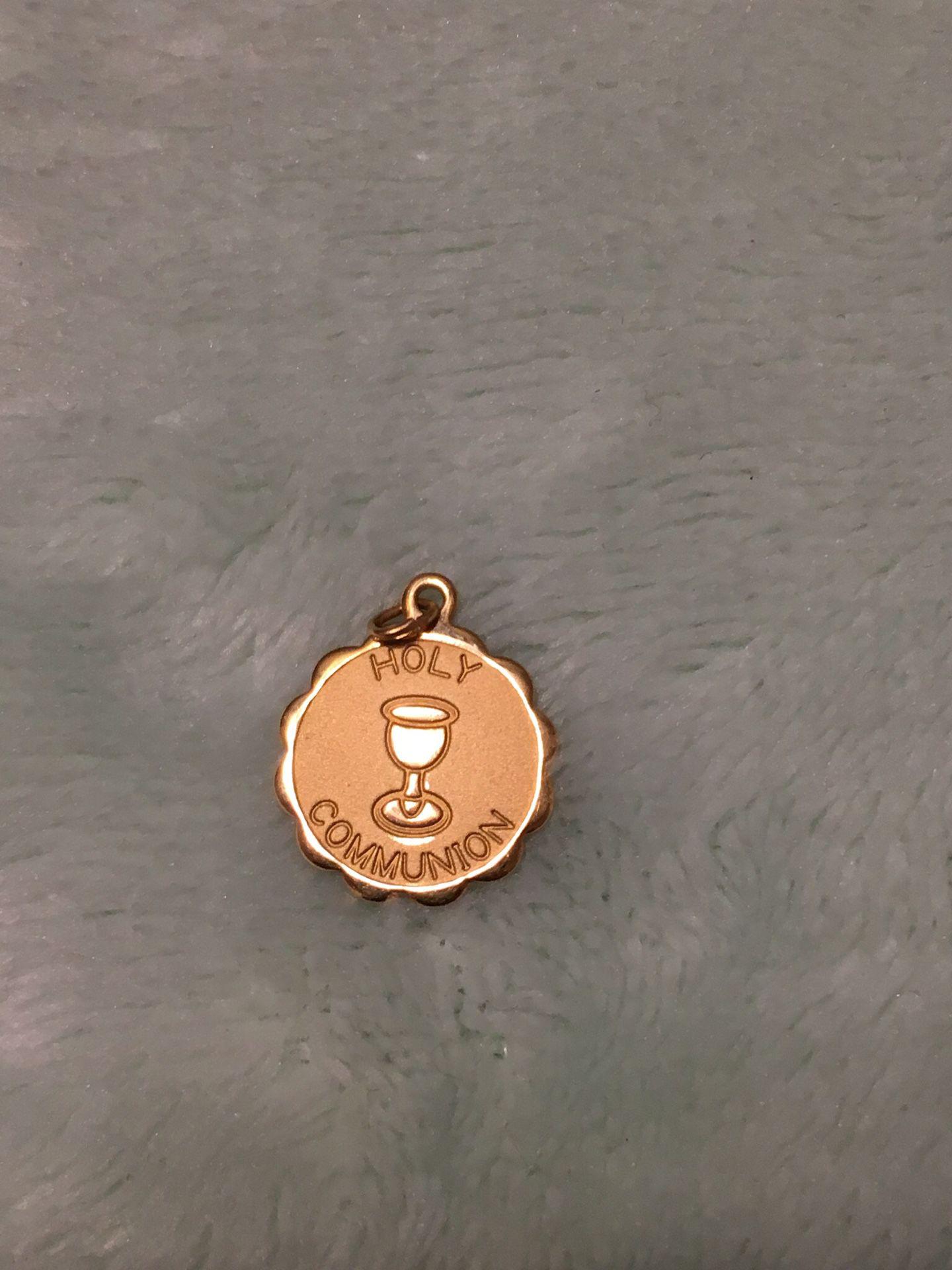 Antique 14k Gold holy communion Charm