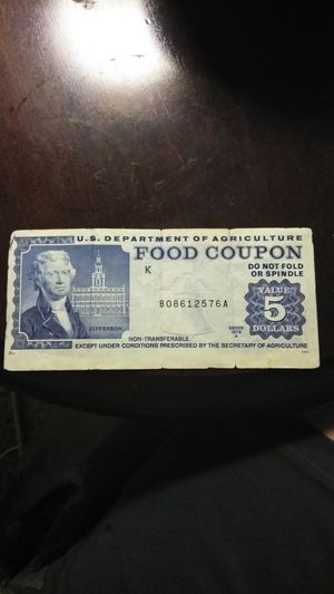 1978 $5 food stamp bill for Sale in Chelsea, MA