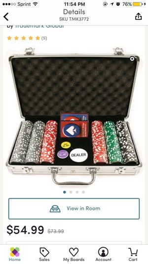 Poker chips & case for Sale in Baltimore, MD