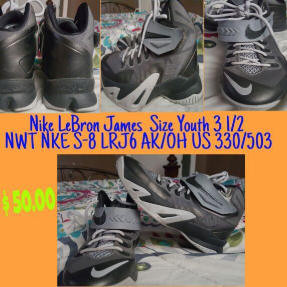 31b00167d2326 Nike LeBron James size Youth 3 1 2 NWT NKE S-8 LRJ6 AK OH US 330 503. San  Antonio ...