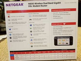 Netgear N600 Wireless Dual Band Gigabit DSL Modem Router Thumbnail