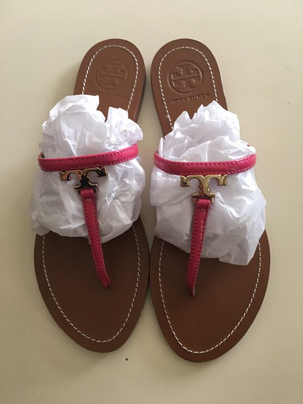 1f89dab1fe42bd Tory Burch  T  Leather Thong Sandals size 10 for Sale in Chandler ...