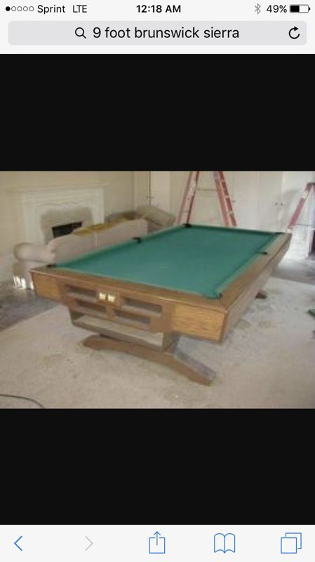 Ft Brunswick Sierra Pool Table For Sale In Oak Forest IL OfferUp - Brunswick 9 foot pool table