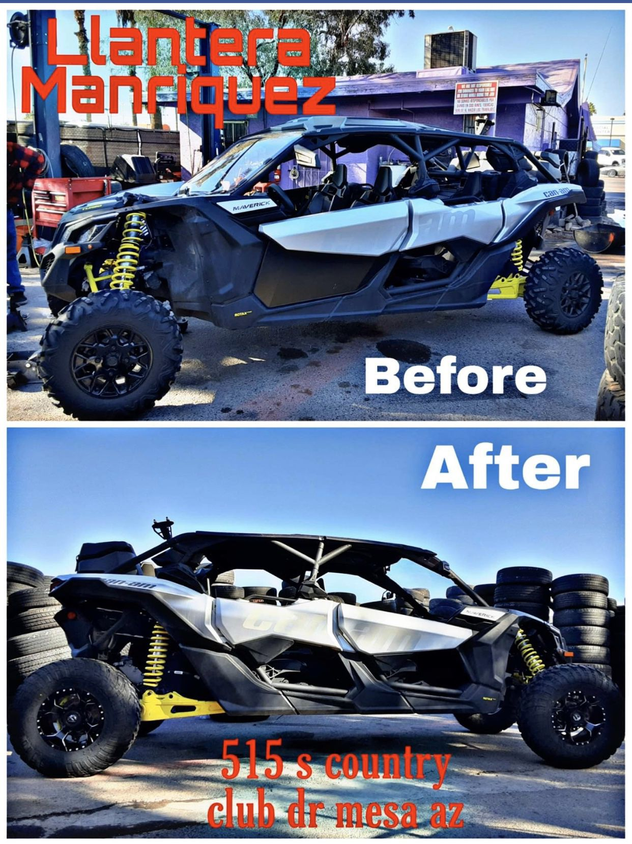 Wheels and tires for Razr,Can am and all utv&atv