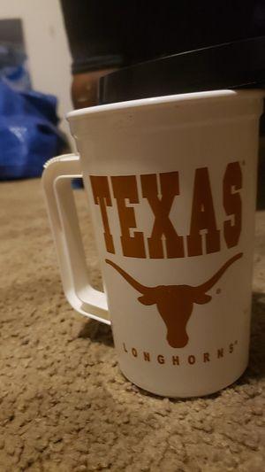 Photo Vintage Collectable Texas Longhorns College Football mug thermos USA made.