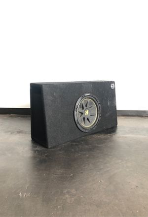 """Photo 10"""" kicker subwoofer for pick up truck"""