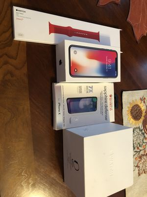 iPhone X 256gb plus an Apple Watch 1 gen stainless steel for Sale in College Park, MD