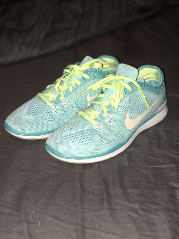 official photos 9e16f 8a78e Nike Women s Size 7, Free 5.0 TR Fit 5 BREATHE (Teal,White,Neon Yellow)