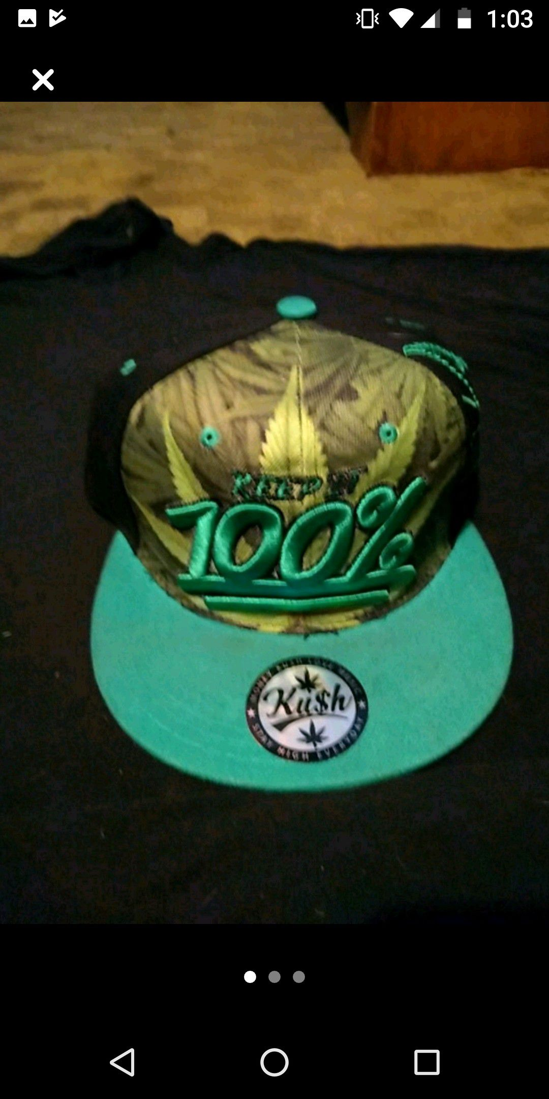 New in bag with tags pot leaf snapback