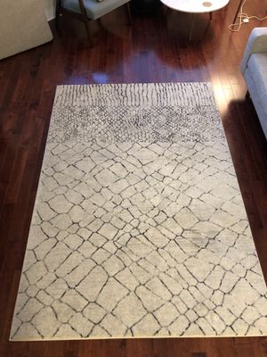 ivory black gray rug for Sale in Washington, DC