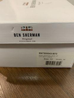 Men's Ben Sherman off White Lace Up 13 Thumbnail