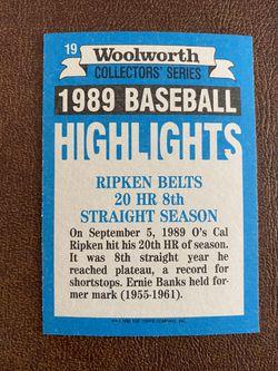 "1990 TOPPS  WOOLWORTH ""BASEBALL HIGHLIGHTS"" 33 CARD SET Thumbnail"