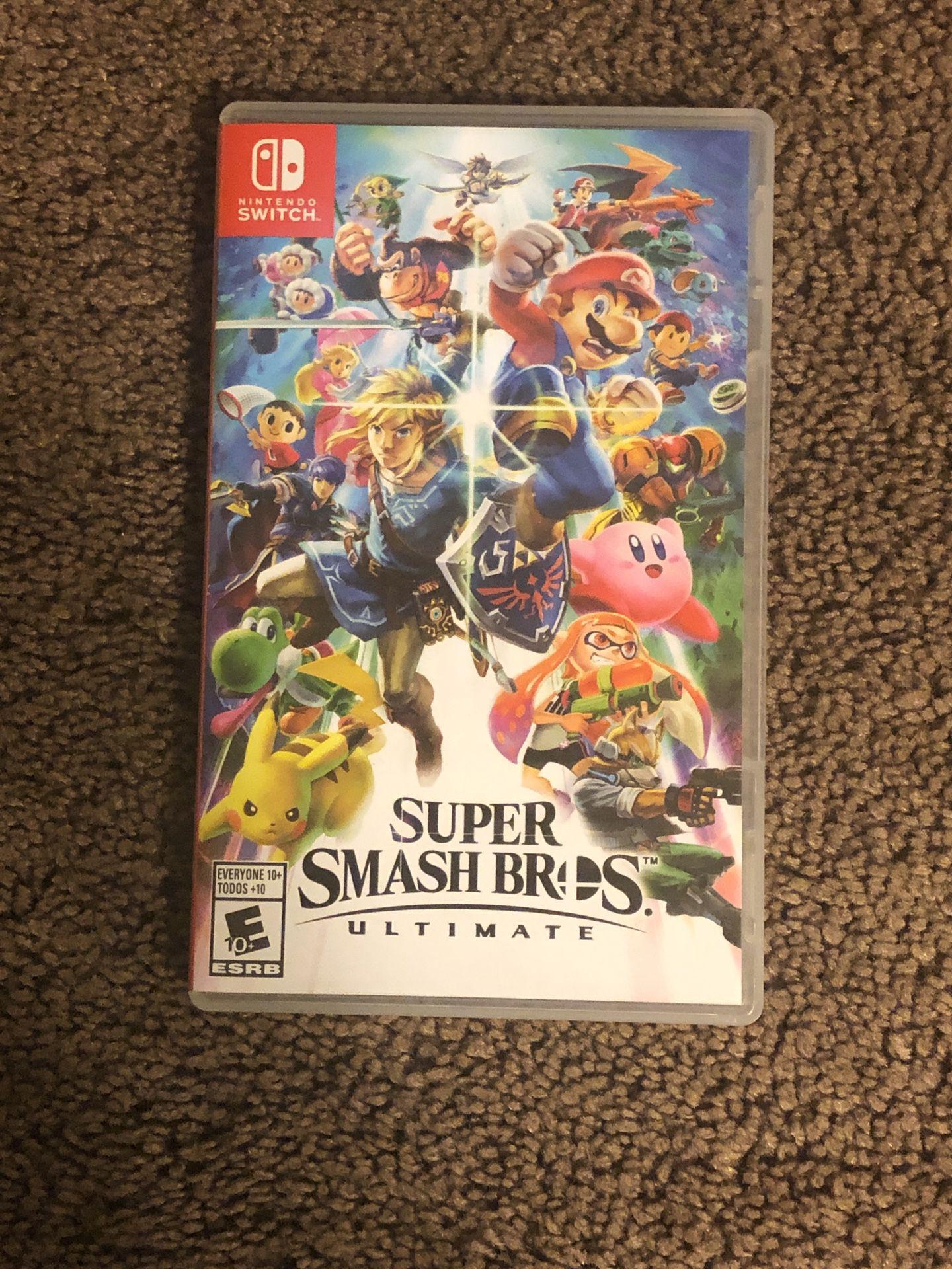 Nintendo switch, Super smash bros ultimate, 55 in tv,