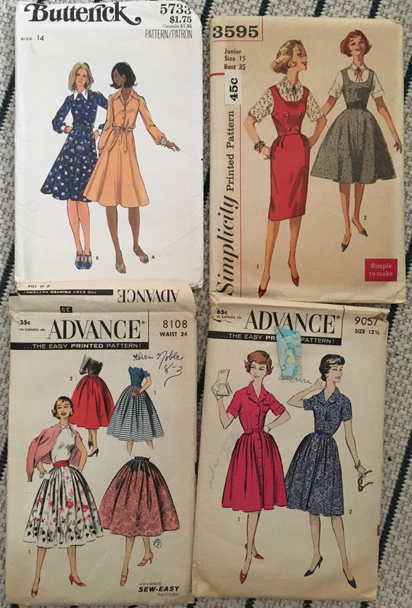 9 Vintage Sewing Patterns from 1960\'s and 70\'s!! for Sale in Smyrna ...