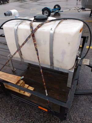 Photo 50 Gallon Water Storage Tank with Rack