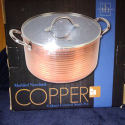 BRAND NEW Copper 8Qt Covered Stock Pot Thumbnail
