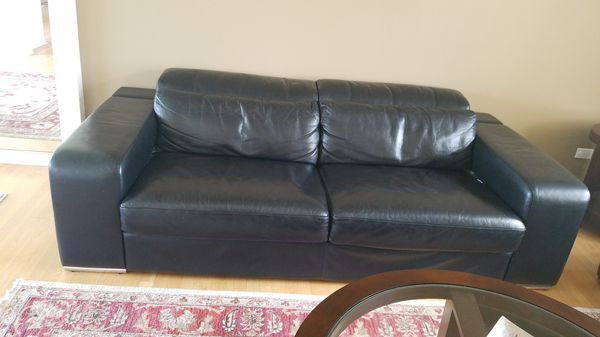 2 Black leather sofas for Sale in Streamwood, IL - OfferUp