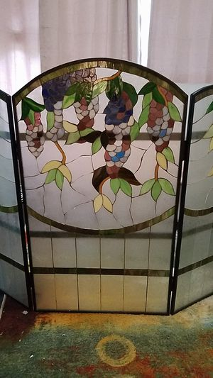 Stainglass Fireplace Screen -- Reduced price! for Sale in Altamonte Springs, FL