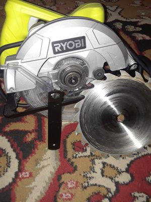 Ryobi circular saw brand new used once must go now very fresh good condition for Sale in Washington, DC