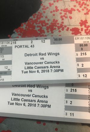 Got 2 tickets for tonight's game for Sale in Dearborn, MI