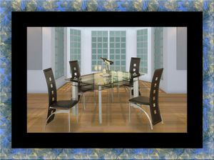 Glass dining table with 4 chairs for Sale in Silver Spring, MD
