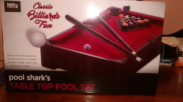 Nifty games pool sharks tabletop pool set for Sale in Orlando, FL ...