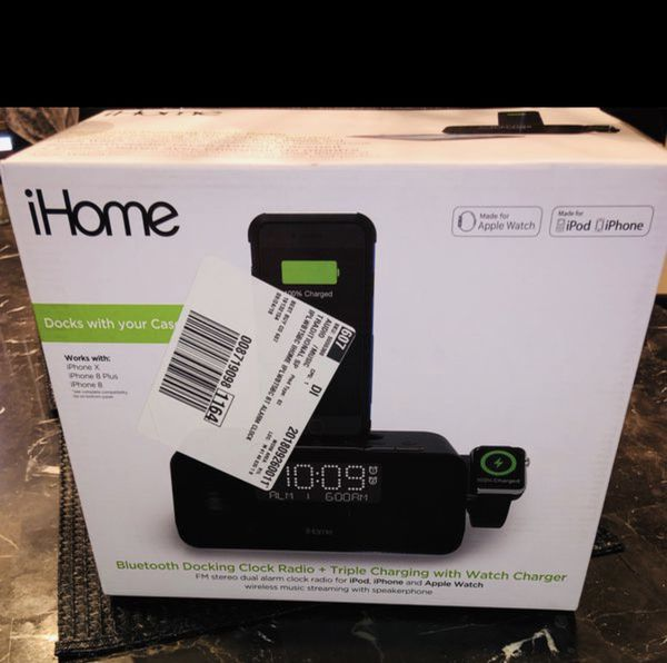 iHome - FM iPhone Docking Dual-Alarm Clock Radio & Apple Watch Charger -  NEW/SEALED for Sale in Glendale Heights, IL - OfferUp