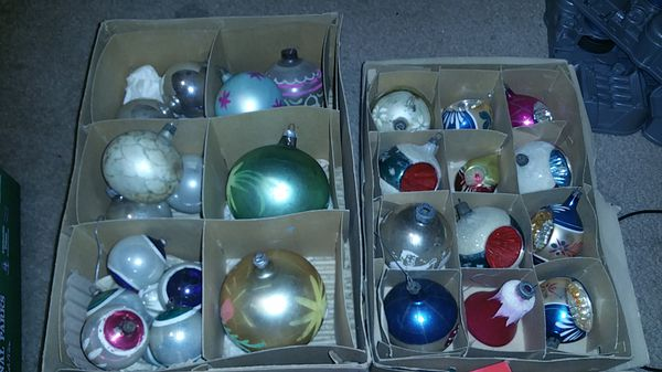 Antique Mercury Glass Christmas Ornaments Shiny Brite Fantasia 25