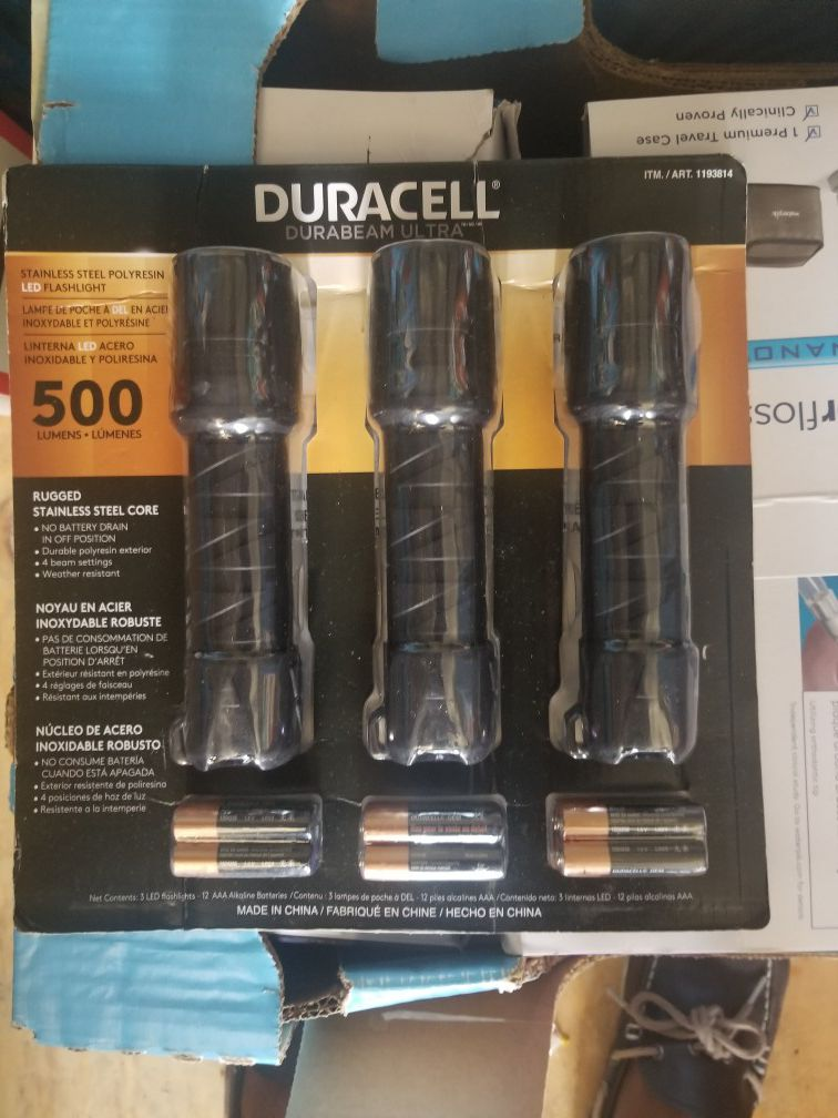 Duracell Flashlight pack of 3