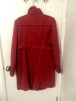 Red dress pea coat - like new! Thumbnail