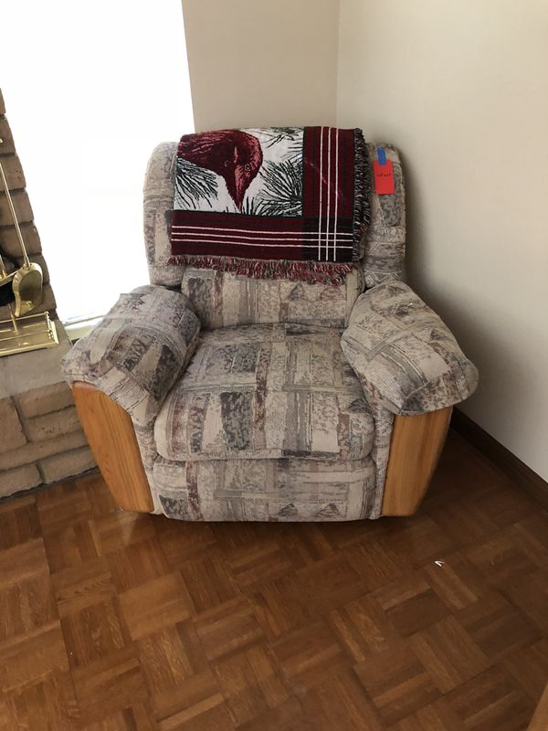 people lounger oak cloth recliner chair for sale in peoria az offerup