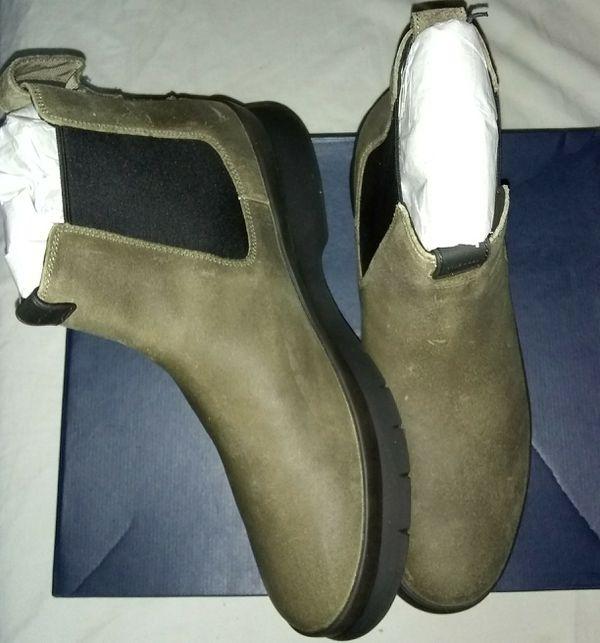 180fb8cf299 Cole Haan Men s Pinch Utility Waterproof Chelsea Boot (chamois Waxed Suede-Black  Waterproof) Size 11.5