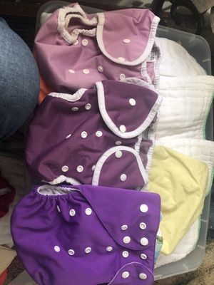 3 cloth diapers color purple size 2 for Sale in Inwood, WV