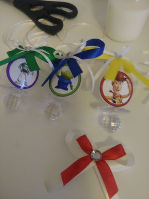 12 Toy Story Baby Shower Pacifiers Necklaces Favors for Sale in Colton, CA