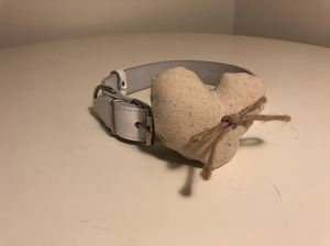 White Dog Collar with Handmade Heart Pillow for Sale in McLean, VA