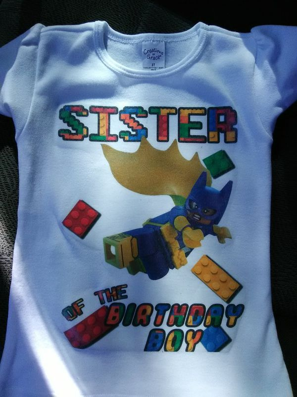 Batgirl Lego Birthday Shirt