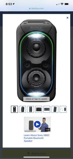 SONY XB60 - PORTABLE for Sale in Arlington, VA