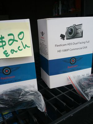 Fleet dash cameras. Brand new in unopened box. HD recording 2 cameras and wiring kit included for Sale in Charles Town, WV