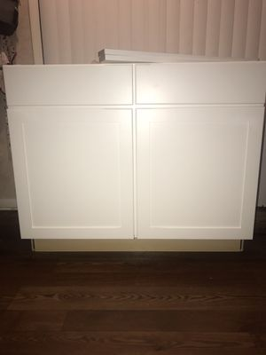 White Wood Kitchen Cabinet 2 Doors For In Charlotte Nc