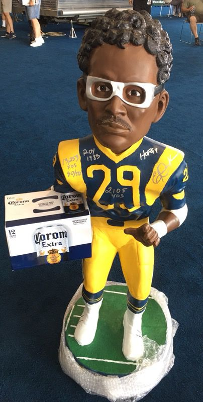 1b316861a Eric Dickerson 4 foot tall Corona Beer bobblehead Autographed/signed Rams  NFL man cave for Sale in Pico Rivera, CA - OfferUp