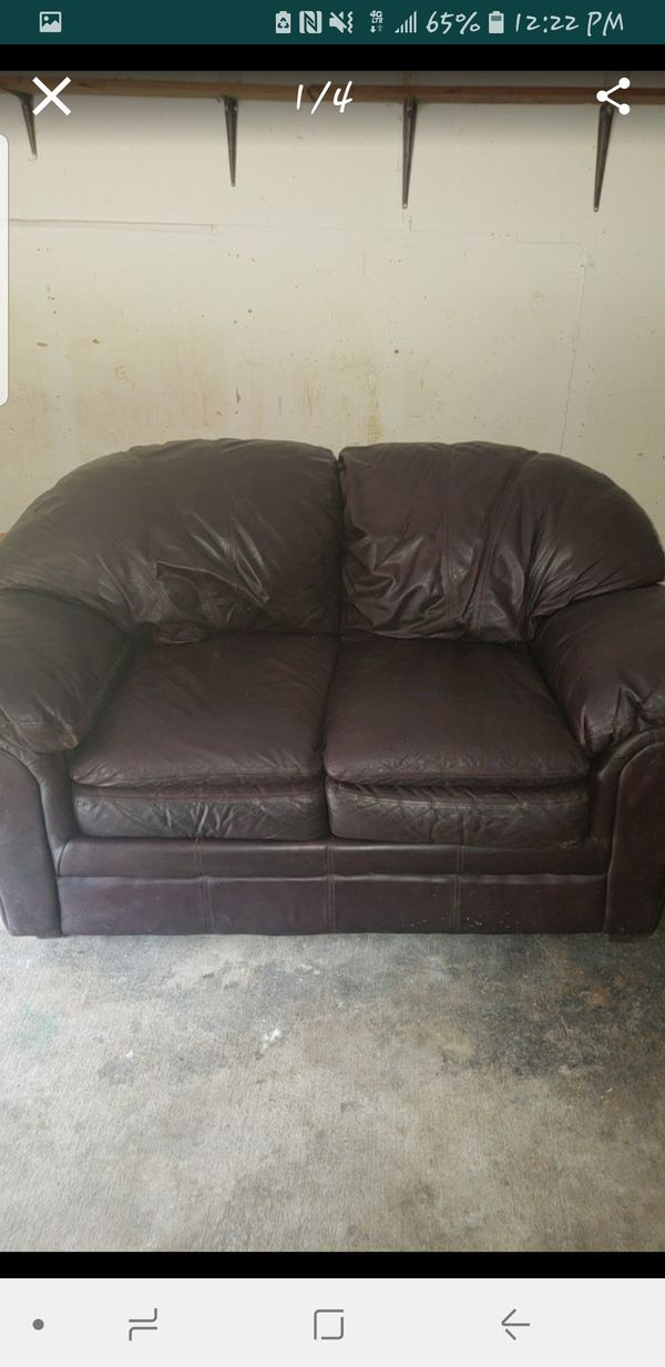 Dark Brown Leather Sofa Set for Sale in Austin, TX - OfferUp