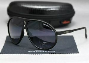 Photo Men Carrera Glasses Retro Sunglasses Matte Frame Metal Black High Quality R12