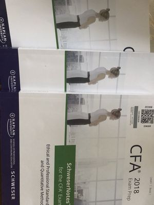 CFA SchweserNote 5 books: CFA level one for Sale in McLean, VA