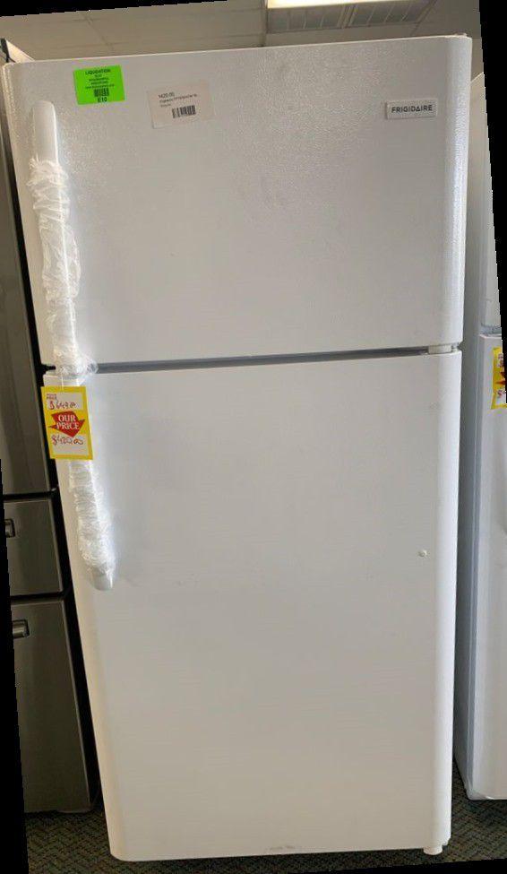 Top Freezer Refrigerator!! Frigidaire Brand!! All new with warranty